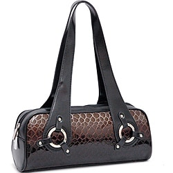 Dasein Leatherette Embossed Alligator Skin Shoulder Bag