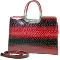 Dasein Leatherette Embossed Alligator Briefcase Tote Bag