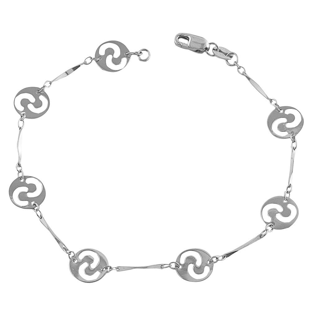 Fremada 14k White Gold Starlight Bracelet (7-inch)