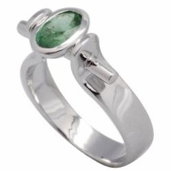 De Buman Sterling Silver Emerald Ring
