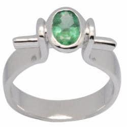 De Buman Sterling Silver Emerald Ring