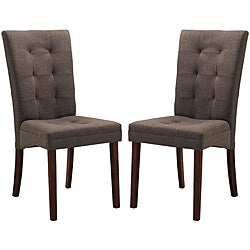 Baxton Studio Anne Brown Dining Chairs (Set of 2)