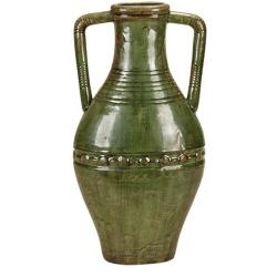 Casa Cortes Large 25-inch Hand-finished Double Handled Ceramic Vase
