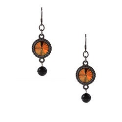 Crystal 'Copper Nights' Earrings