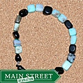 Susen Foster Onyx and Opal 'A Girl's Best Friend' Bracelet