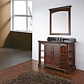 Virginia 36-inch Mahogany Vanity with Black Granite Top and Sink