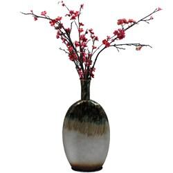 Casa Cortes Nacre Pearl Artesian Tall Lightweight Metal Vase