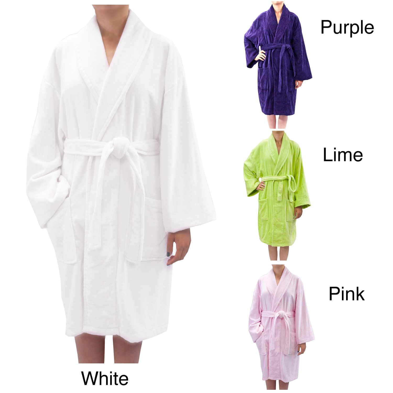 Leisureland Women's Luxury Cotton Terry Velour Robe at Sears.com