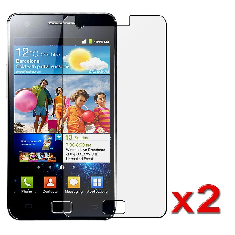 Anti-glare LCD Screen Protector for Samsung Galaxy S II i9100 (Pack of 2)