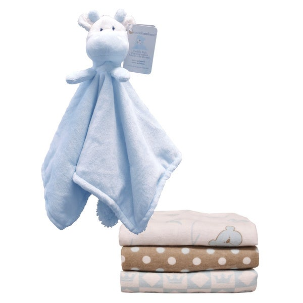 Piccolo Bambino Cuddly Pal and Receiving Blanket Gift Set