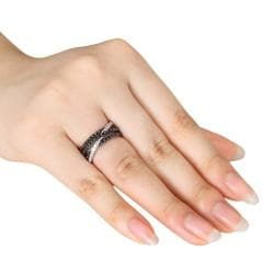 Sterling Silver 1ct TDW Black and White Diamond Ring (G-H, I2-I3)