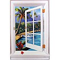 Tropical Window Scene