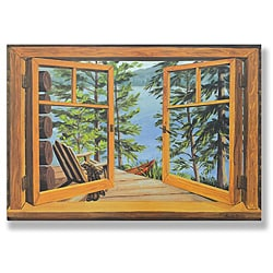Cabin/ Lake View Window Scene