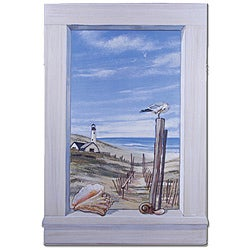 Ocean Scene with Seagulls Window Scene