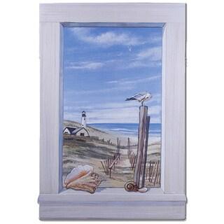Ocean Scene with Seagulls Window Scene