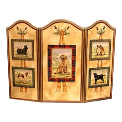 Dogs Brown/ Multi Fire Screen