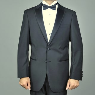 Giorgio Fiorelli Modern Lapel Black Fully Lined Two-button Tuxedo