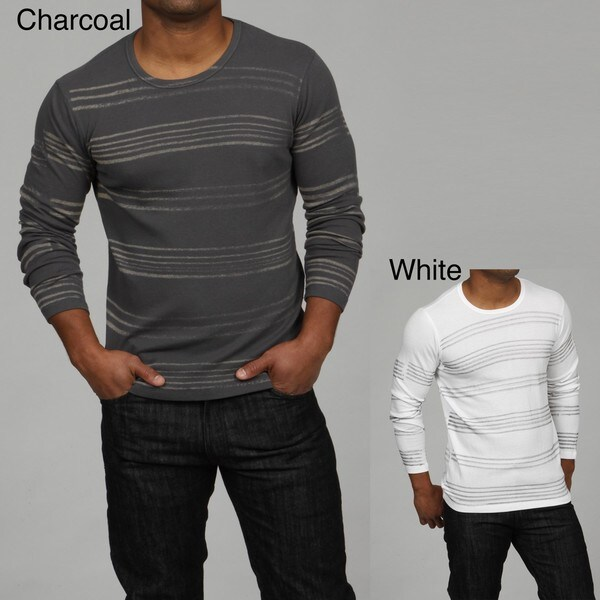 Pop Icon Men's Striped Long-sleeve Thermal Shirt