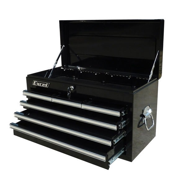 Excel 26-inch Steel Tool Chest with Six Ball Bearing Slide Drawers