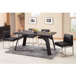 Furniture of America Porta Black Finish Dining Table/ Office Desk