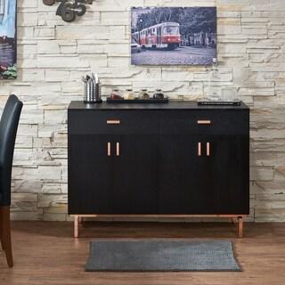Furniture of America Mason Modern Black 47-inch Solid Wood Buffet