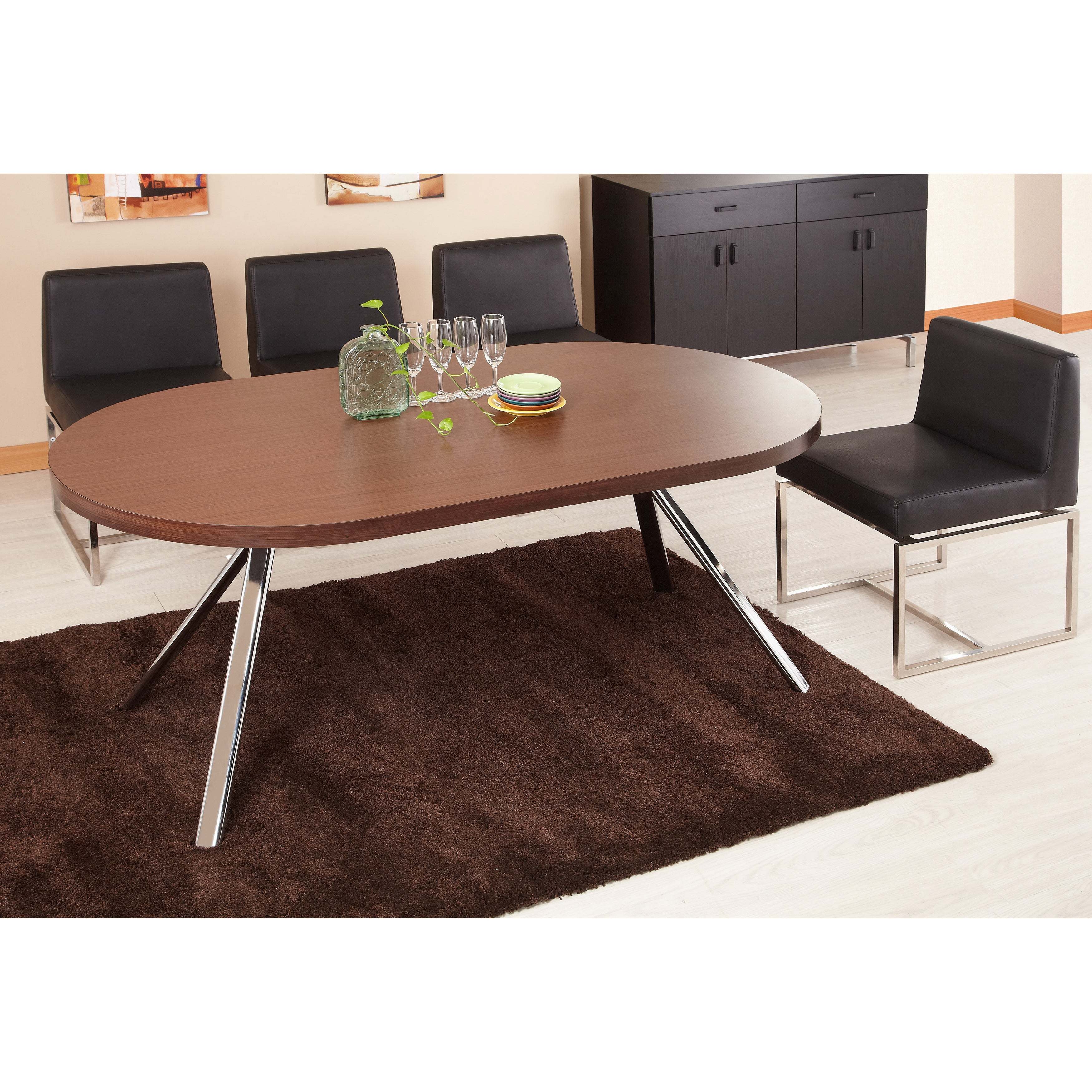 Furniture Of America Trexton Walnut Finish Dining Table Office Desk Overstock Shopping