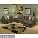 Furniture of America Keaton Chenille Eco-Friendly Sectional Sofa