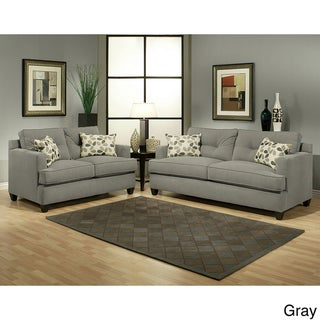 Nicolas 2-piece Micro-Denier Fabric Sofa and Loveseat Set