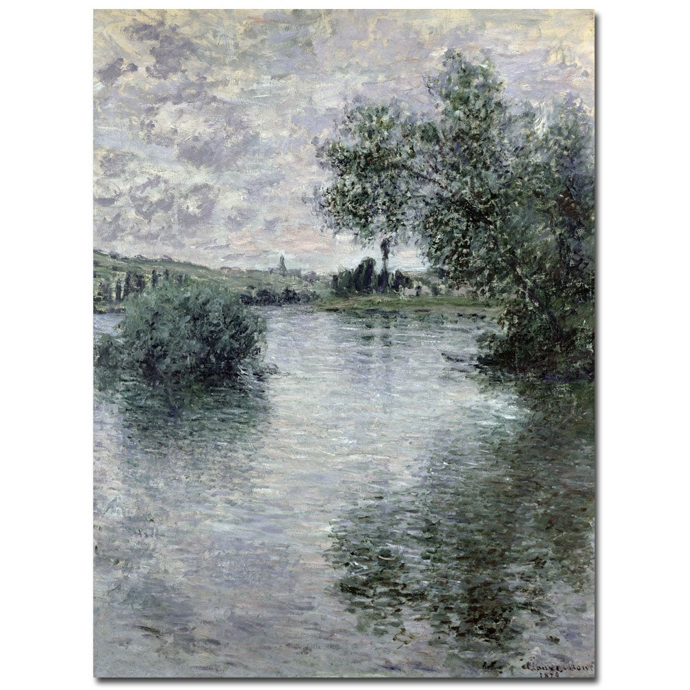 Claude Monet 'Seine at Vetheuil 1879' Gallery-Wrapped Canvas Art