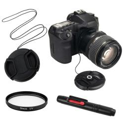 INSTEN UV Lens Filter/ Lens Cap/ Cap Keeper/ Cleaning Pen for Sony Nex-3