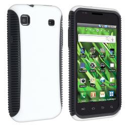 Black/ White Hybrid Case Protector for Samsung Vibrant T959 Galaxy