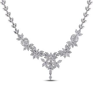 Miadora Signature Collection 18k White Gold 7 2/5ct TDW Diamond Necklace (G-H, SI1)