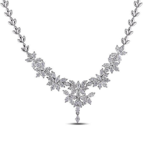 Miadora 18k White Gold 7 2/5ct TDW Vintage Diamond Necklace (G-H, SI1)