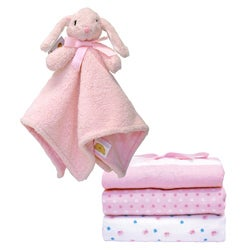 Piccolo Bambino Cuddly Bunny and Receiving Blanket Gift Set