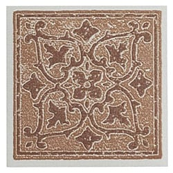 Self Stick Two Tone Vinyl Wall Tiles Backsplash (4'x4') 3 Square Feet Terracotta