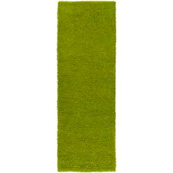 Hand-woven Pavia Colorful Plush Shag New Zealand Felted Wool Rug (2'6 x 8')