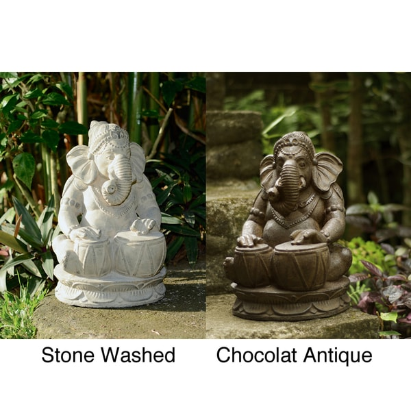Stone Tabla Elephant Ganesha Statue (Indonesia)