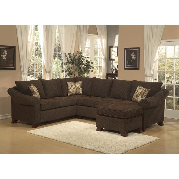 Furniture of America Brooke Chenille Fabric Sectional