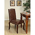 Mocha Accent Nailhead Chairs (Set of 2)