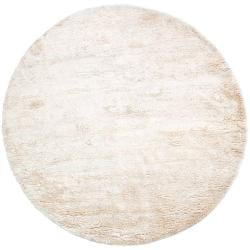 Hand-woven Afragola Plush Shag Zealand Wool Rug (8' Round)