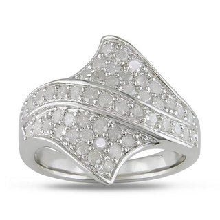 Haylee Jewels Sterling Silver 1ct TDW Diamond Ring (H-I, I3)