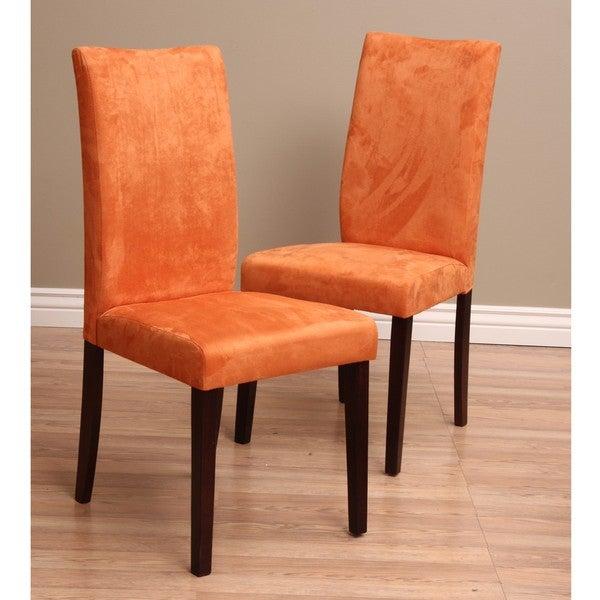 Warehouse of Tiffany Shino Orange Dining Chairs (Set of 8)