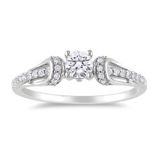 Miadora 14k Gold 2/5ct TDW Princess Diamond Engagement Ring (G-H, I1-I2)