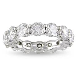 Miadora 18k White Gold 5ct TDW Diamond Eternity Band (G-H, SI1-SI2)
