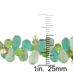Miadora 14k Yellow Gold Peridot, Amethyst and Apatite Necklace