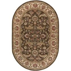 Hand-tufted Alps Wool Rug (6' x 9' Oval)