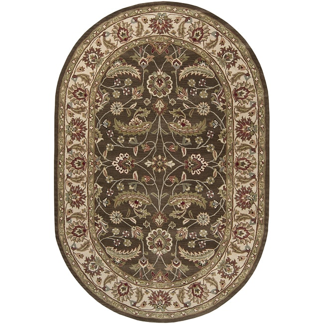 Hand-tufted Alps Wool Rug (8' x 10' Oval)