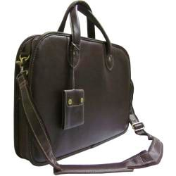 Amerileather Dual-handle Cowhide-leather Laptop Commuter Portfolio