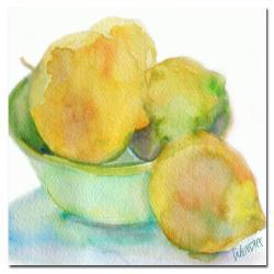 Wendra 'Lemona' Square Canvas Art