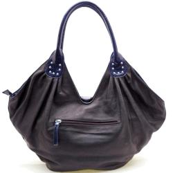 Dasein Faux Leather Bow Front Shoulder Bag